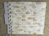 Calacatta oro mattonelle Polished del mosaico del mattone del marmo 1X2 ''