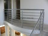 Balustrade de garnitures de support de tube de cheminée de balustrade d'acier inoxydable
