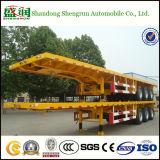 De verlengbare Flatbed Semi Aanhangwagen van de Vrachtwagen van de Container met de Sloten van de Draai
