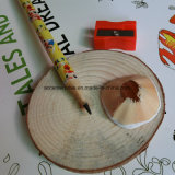 [هب] قلم خشبيّة مع ممحاة ولون قلم خشبيّة