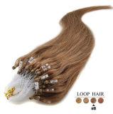 Extensões brasileiras do cabelo humano do micro Virgin barato do laço do anel