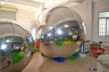 Aerostato gonfiabile di pubblicità gonfiabile dello specchio della sfera riflettente dell'argento della sfera dello specchio dell'aerostato per la decorazione di eventi