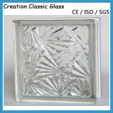190*190*80mm Clear Ou Colored Glass Bloquent-Glass Brick pour Wall