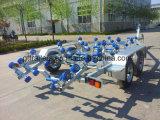 Reboque galvanizado do barco com freio hidráulico Tr0211
