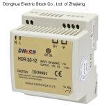 Ein-Output-LÄRM Hdr-30 Schienen-Typ Schaltungs-Stromversorgungen-Ausgabe 88-264VAC zu 12VDC 2A