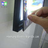 Blocco per grafici di alluminio della foto del LED con il segno illuminato della casella chiara del LED per l'alimento veloce del menu del ristorante