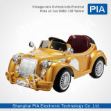 Vitage Auto-Aussicht scherzt elektrische Fahrt auf Autofahrzeug Spielzeug (Schwarzes DMD-138)