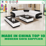 Base de sofá moderna del hogar del cuero genuino del diván