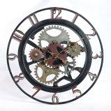 Diseños únicos promocionales del reloj de pared del metal con dimensión de una variable del engranaje