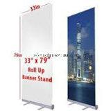 Bon Qualityroll vers le haut pour escamotable en aluminium rentable d'étalage enroulent le stand de drapeau