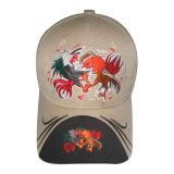 Gorra de béisbol caliente de la venta con 3D la insignia Bb85
