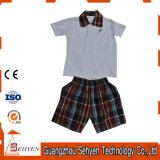 L'asilo personalizzato dei pannelli esterni pieghettato Shorts delle camice del banco scherza l'uniforme scolastico