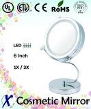 """6 pulgadas """"S"""" de la forma LED del soporte del espejo cosmético (D627)"""