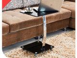 金属フレームのガラスコーヒーテーブル