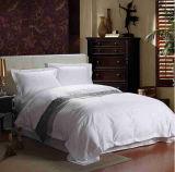 ホームおよびホテルの100%年の綿の柔らかく白い刺繍のBoaderの寝具セット