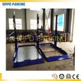 Doppio elevatore automatico idraulico di parcheggio dell'automobile dei due alberini della piattaforma 2700kg per uso del garage