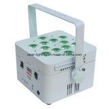 12PCS LED 재충전 전지 DMX 무선 동위 빛