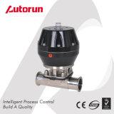Válvula de diafragma pneumática sanitária inoxidável do aço 316L