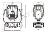 230W 7r LED bewegliches Hauptstadiums-Lichtstrahl