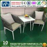 アルミニウムフレームのベルトによって編まれる椅子および茶野菜畑の屋外の家具(TG-6006)