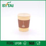Tazza di caffè a parete semplice stampata marchio su ordinazione a gettare di alta qualità