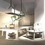 Lâmpada pendant de vidro do retângulo moderno e simples com sala de jantar