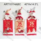 Joyeux Noël Santa, bonhomme de neige, arrivée Gift-3asst. de compte à rebours de renne