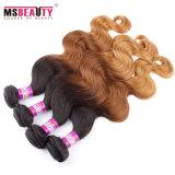 卸し売りボディ波の人間の毛髪のOmbreによって着色されるインドのRemyの人間の毛髪