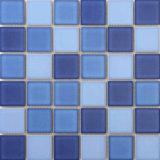 Голубая плитка мозаики фарфора плавательного бассеина цвета
