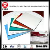 Tarjeta laminada compacta usada para los armarios