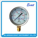 Manómetro-Baixo manómetro Manómetro-Mbar do aço inoxidável