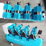 compresseur d'air industriel silencieux de pompe à C.A. de 4X600W 120L