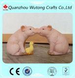 Figurines dentellare divertenti del maiale della resina della decorazione domestica