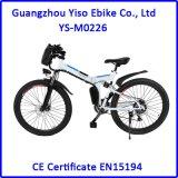 E-Vélo se pliant de montagne de 26 pouces avec le moteur arrière sans frottoir