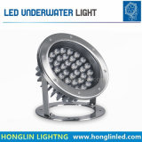 Luz subacuática LED del agua de la luz 36W IP68 DC12-36V del LED