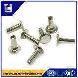 Oval Head Brass / Zinc Plated Semi Tubular Steel Rivet
