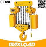 alzamiento de cadena eléctrico 380V de 15t los 5m con el gancho de leva