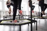 Trampolín gimnástico de interior con las cuerdas elásticos para el club de salto adulto