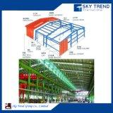 La estructura ligera del metal del marco de acero con instala servicio