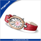 Het in het groot Horloge van het Concept van het Kwarts van Dames met de Riem van het Leer in China psd-3324