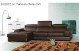 Sofa à la maison de cuir véritable de meubles (S-2978)