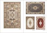 レトロカラー編みこみの小ガモの従来の東洋の居間領域敷物を持つCollection Wool Blended Silk王の