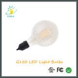 Luz de la decoración del filamento de la plata LED del cromo de G150 E40