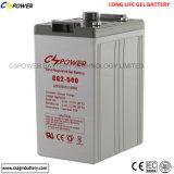 500ah/2V batterie solaire, batterie profonde de cycle pour outre du réseau solaire