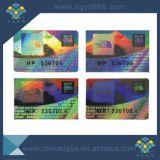 Hohe Sicherheits-beschriftet kundenspezifischer Regenbogen-Effekt-Laser Hologramm-Aufkleber