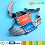 Изготовленный на заказ Wristbands ткани RFID браслета празднества для случаев