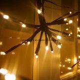 クリスマスの装飾ライトのための2m100LEDsブラウンの爆発の球ストリングライト