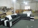 Sofà moderno con il sofà d'angolo sezionale di cuoio per mobilia domestica con figura di U