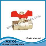 Valvola a sfera d'ottone femminile del filetto ISO228 (V20-013)