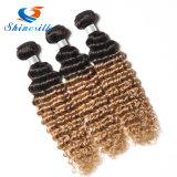 8A閉鎖のブラジルのOmbreの毛を搭載する深い波のOmbreの毛